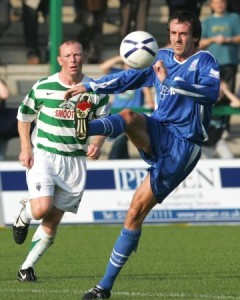 Dave Savage brings the ball under control
